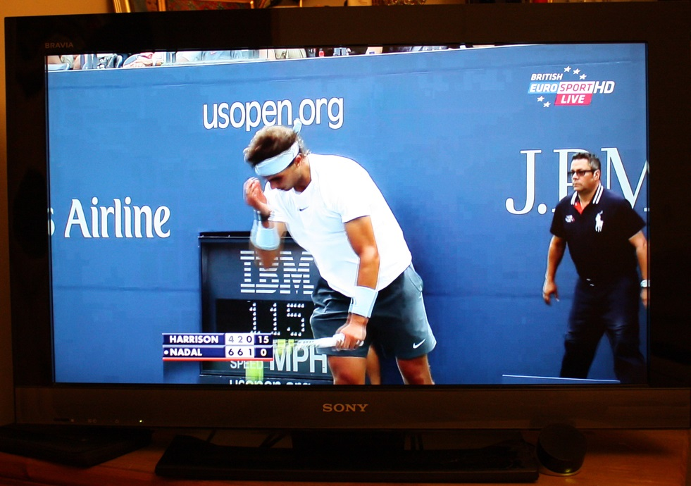 The British Eurosport App streaming live to a Sony LCD TV