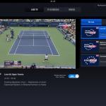 British Eurosport Player app streaming the US Open Tennis