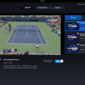 British Eurosport Player app streaming the US Open Tennis