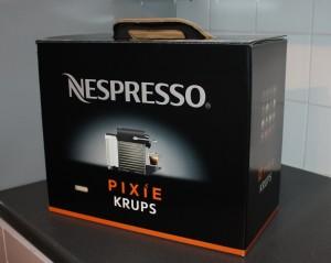 Nespresso by Krups Pixie Coffee Machine, Titanium