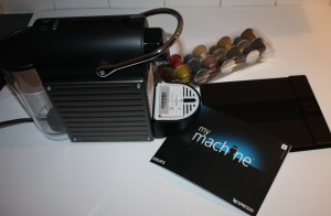 Box contents of Nespresso by Krups XN300540 Pixie Coffee Machine, Titanium