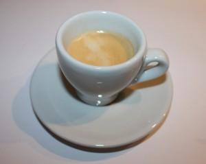 Espresso produced by Nespresso by Krups Pixie