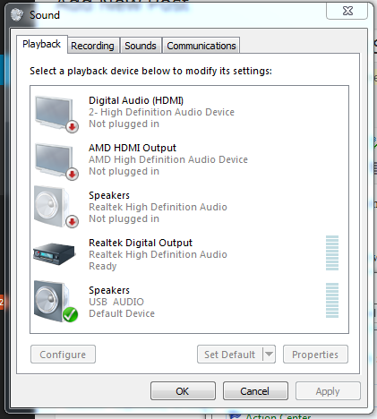 Logitech S150 USB Digital Speakers as a Windows USB Audio Device