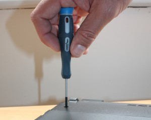 Using the Draper Expert Precision Screwdrivers on a laptop