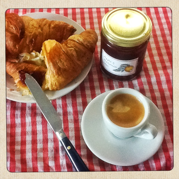 Nespresso Vivalto Coffee and Croissant  for Breakfast