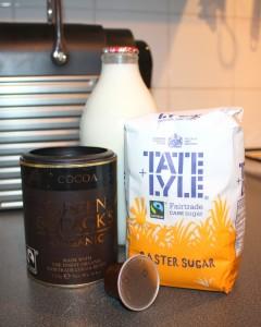 Ingredients for Nespresso Mocha