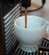 The Nespresso Pixie pouring a beautiful espresso